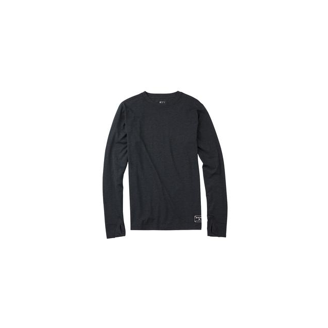 Burton - Midweight Wool Crew Baselayer Top Men's, True Black/Heather, L