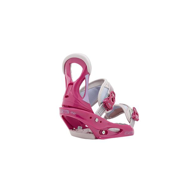 Burton - Stiletto Snowboard Bindings Women's, Pink/Gray, L