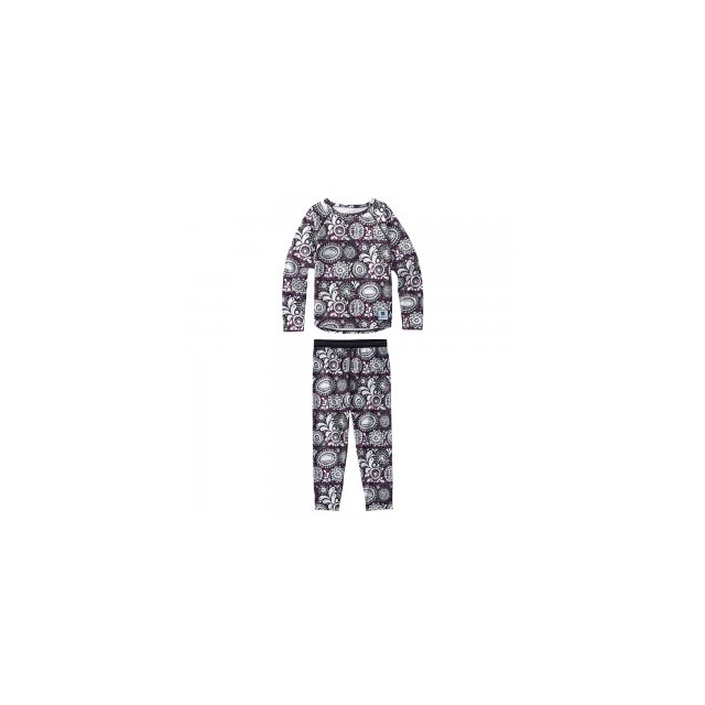 Burton - Minishred Lightweight Baselayer Set Little Girls', Sun Doodle, 4T