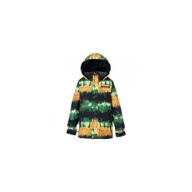 Burton - Amped Insulated Snowboard Jacket Boys', Slime Surf Stripe, L