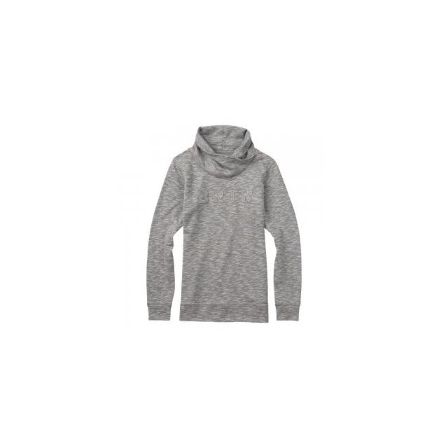 Burton - Josie Fleece Mockneck Pullover Women's, Gray Heather, L