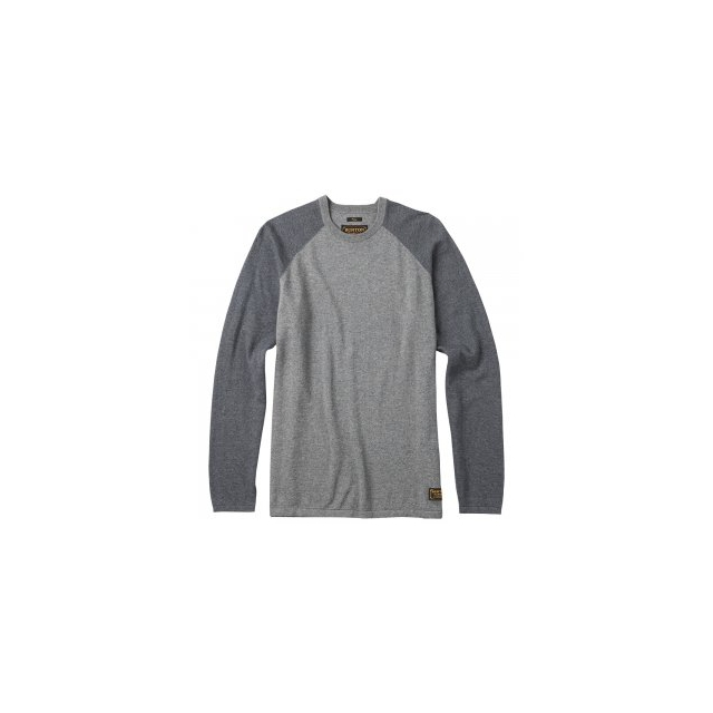 Burton - Stowe Raglan Sweater Men's, Dark Ash Heather, L