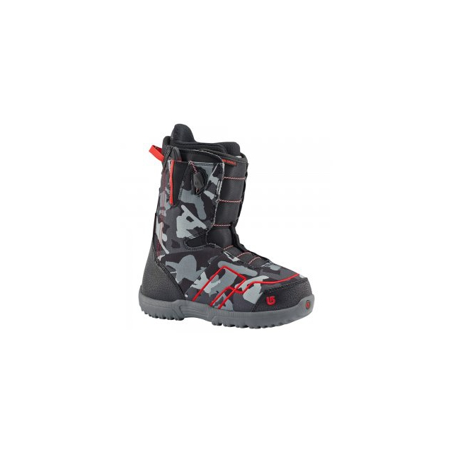 Burton - AMB Smalls Snowboard Boot Kids', Black/Red, 4