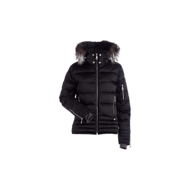 Nils - Olivia Down Jacket with Real Fur Hood Trim - Women