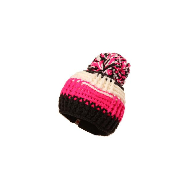 Obermeyer - Patchwork Beanie Girls', White,