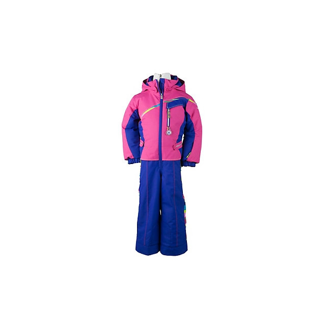 Obermeyer - Starlet Insulated Ski Suit Toddler Girls', Carnival Stripe, 2