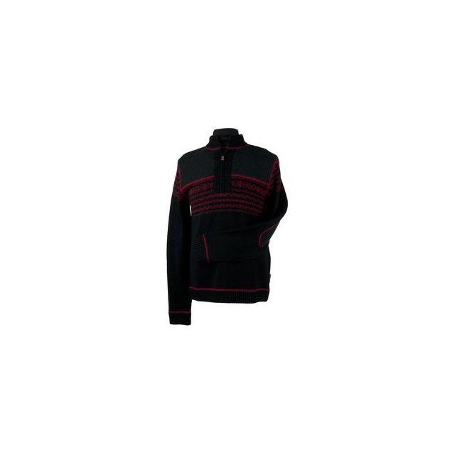 Obermeyer - Otis Sweater Men's, Black/True Red, S