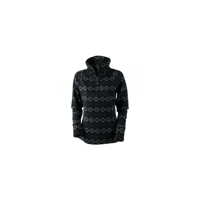 Obermeyer - Brandi 1/2-Zip Fleece Top Women's, Black Snowflake Print, M