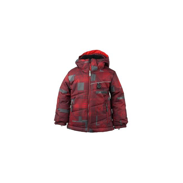 Obermeyer - Strato Insulated Ski Jacket Little Boys', Red Groomer Print, 3