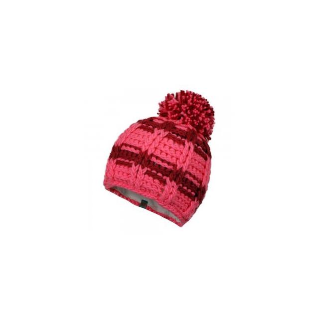 Obermeyer - Ski School Knit Hat Little Girls', Neo Pink/Wild Berry, L/XL