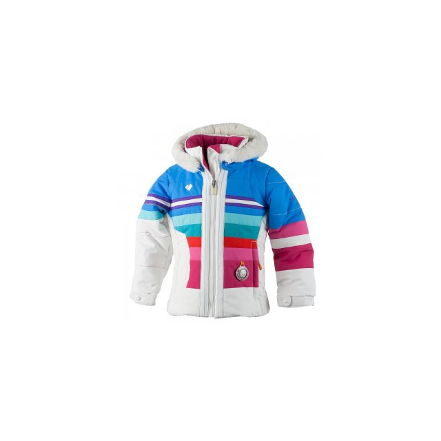 Obermeyer - Snowdrop Insulated Ski Jacket Little Girls', White, 2