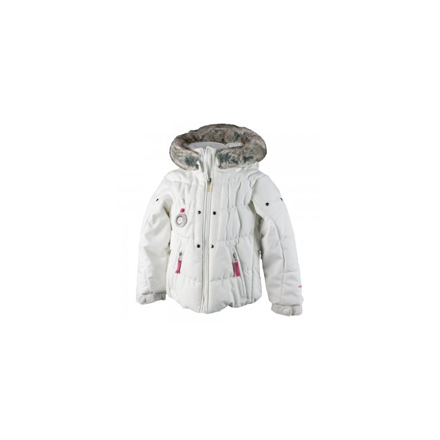 Obermeyer - Juniper Insulated Ski Jacket Little Girls', White, 2