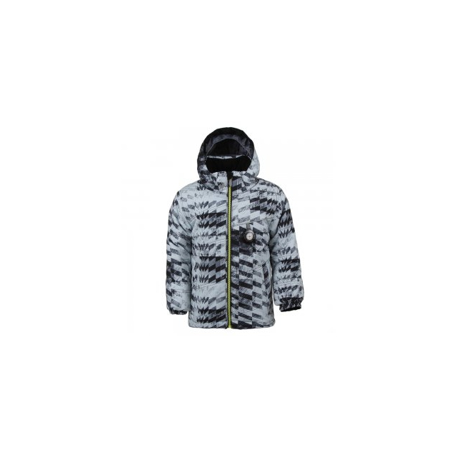 Obermeyer - Stealth Insulated Ski Jacket Little Boys', Grey Coat of Arms, 1