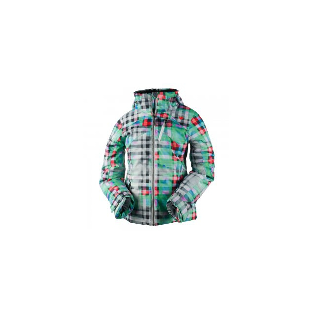 Obermeyer - Tabor Print Insulated Ski Jacket Girls', Plaid Haze, S