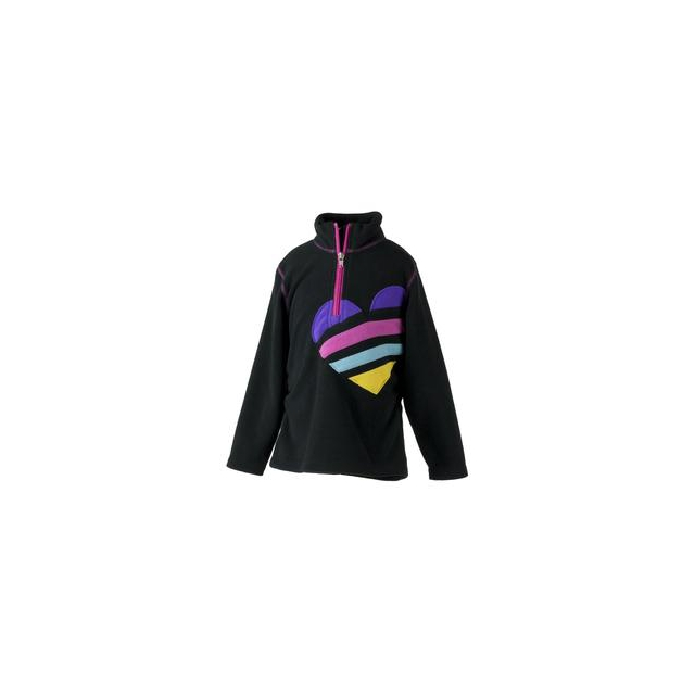 Obermeyer - Hearts Fleece Top Little Girls', Black, XS
