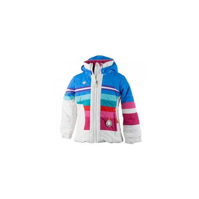 Obermeyer - Snow Drop Insulated Ski Jacket Little Girls', White, 5