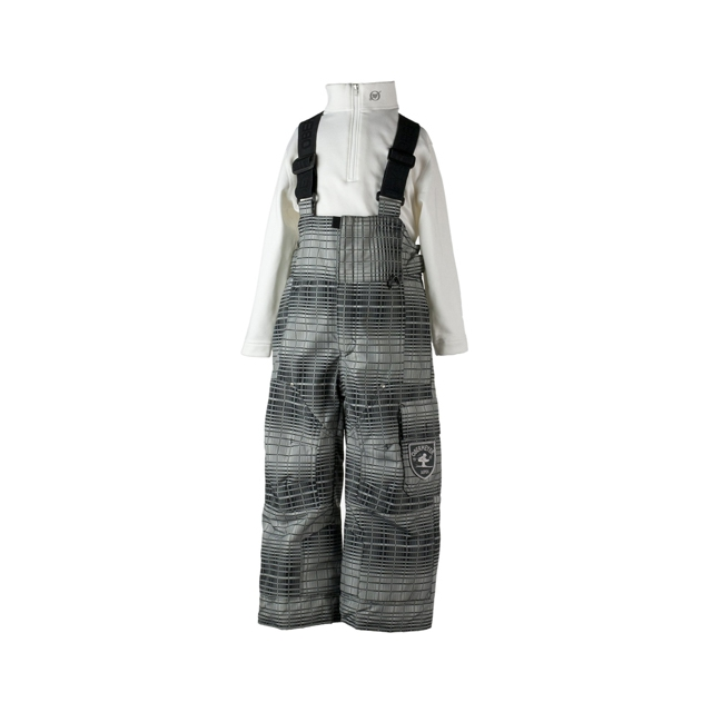 Obermeyer - Volt Suspender Pant - Boy's - Closeout: Basalt Ombre Plaid, 7