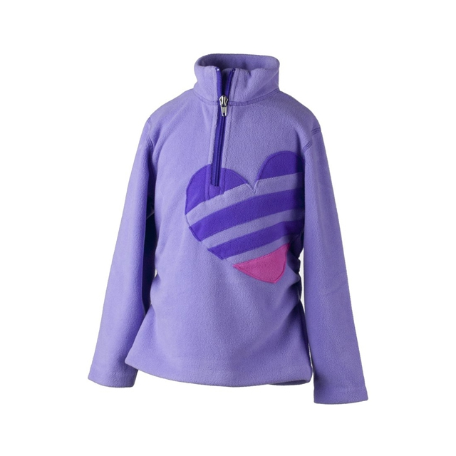Obermeyer - Hearts Fleece Top - Girl's: Lavender, Small