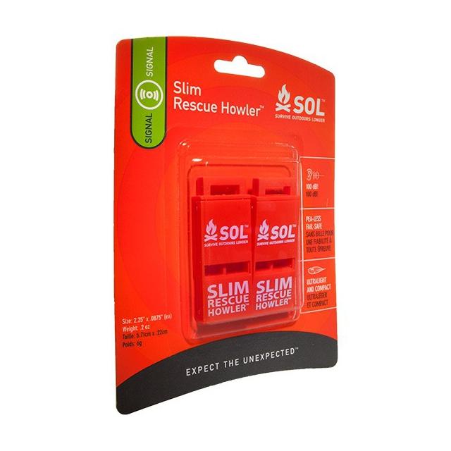 Adventure Medical Kits - SLIM Rescue Howler Whistle, Pkg./2