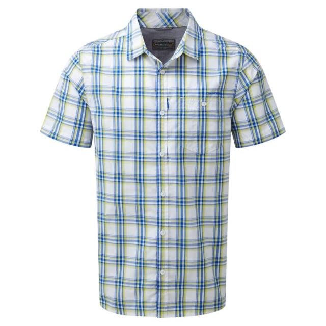 Craghoppers - Mens Edgard Short Sleeved Shirt - Closeout China Blue Check