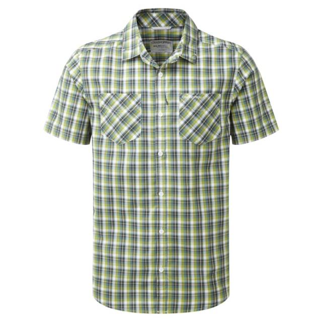 Craghoppers - Mens Corin Short Sleeved Shirt - Closeout Dark Khaki Check