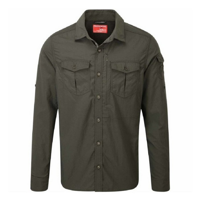 Craghoppers - Men's NatGeo InsectSheild Adventure Long Sleeved Button Up Shirt