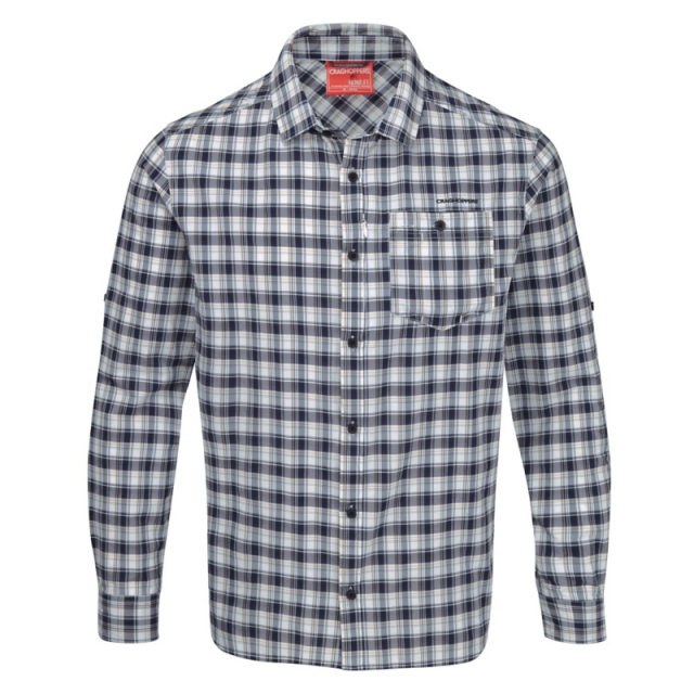 Craghoppers - Mens InsectShield Tristan Long Sleeved Shirt - Closeout Dark Navy Check
