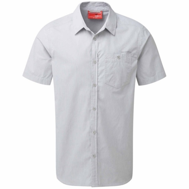 Craghoppers - Mens InsectShield Henri Short Sleeved Shirt - Closeout Light Grey