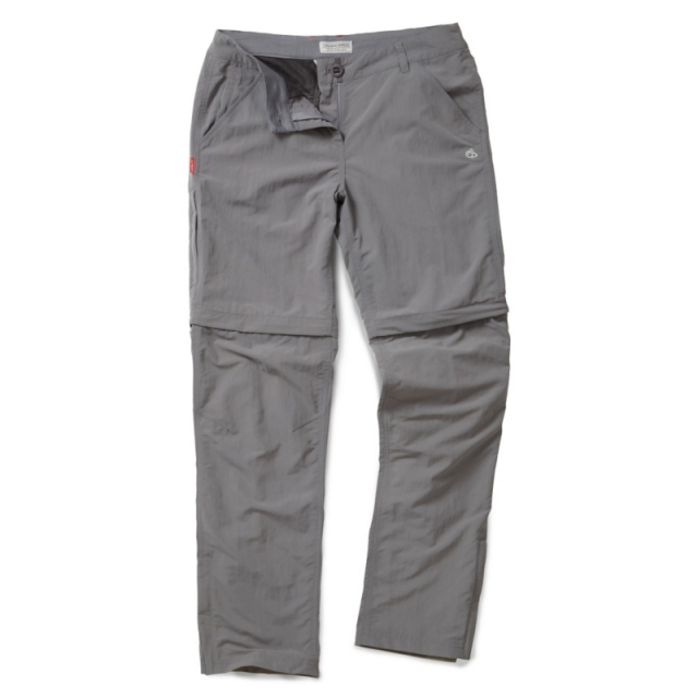 Craghoppers - Womens Insect Shield Convertible Trousers - Closeout Platinum