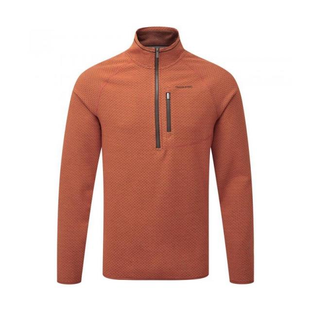 Craghoppers - Mens Liston Half Zip Burnt Orange XL