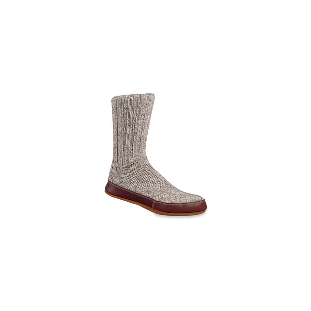 Acorn - Ragg Wool Slipper Socks - Grey In Size: XXS