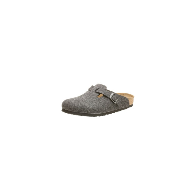 Birkenstock - Boston Wool Clog - Anthracite In Size: 38