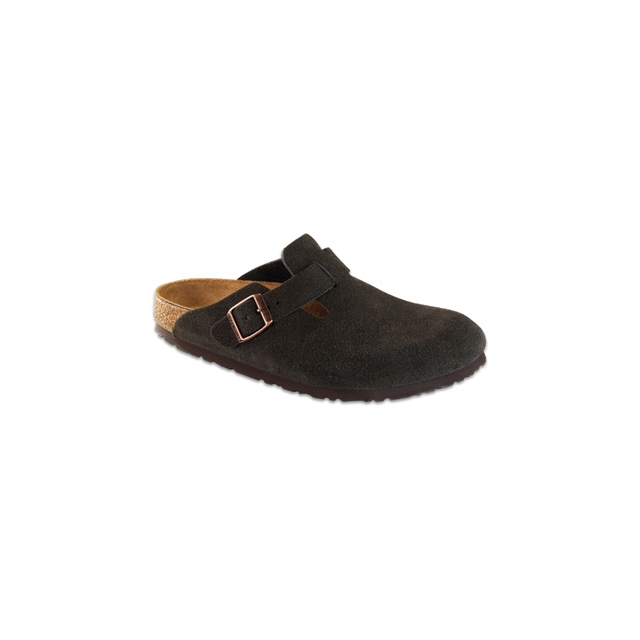 Birkenstock - Boston Soft Footbed Mocha Suede