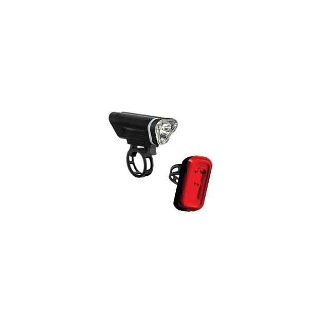 Blackburn Design - Local 50 Front & 10 Rear Cycling Light Set - Black