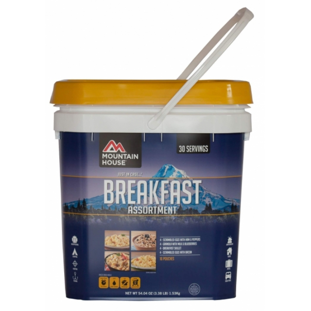 Mountain House - just in case... breakfast assorted bucket