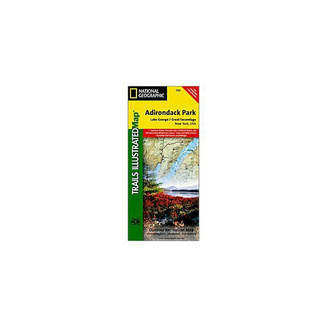 National Geographic: Trails Illustrated - Lake George / Great Sacandage Lake Trail Map