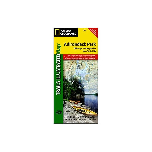 National Geographic: Trails Illustrated - Adirondack Park - Old Forge, Oswegatchie Trail Map