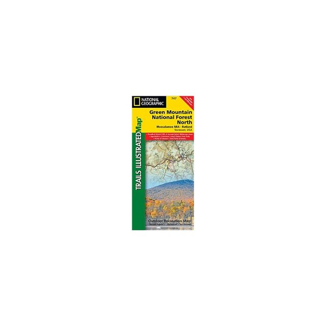 National Geographic: Trails Illustrated - Trails Illustrated - Green Mountain National Forest - North - VT - Map