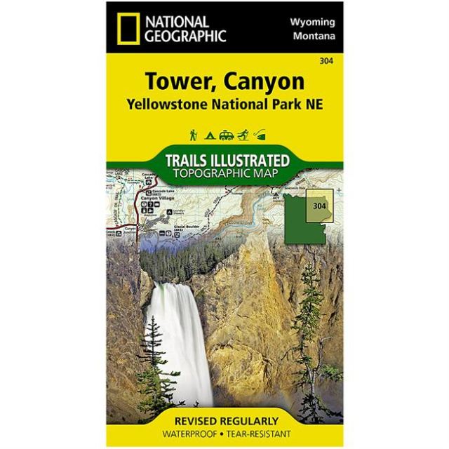 National Geographic: Trails Illustrated - Yellowstone National Park: Northeast Tower/Canyon