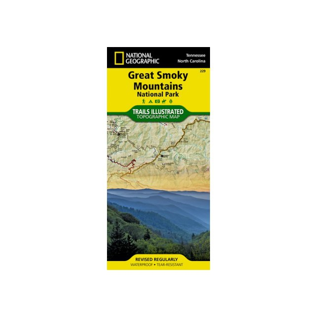 National Geographic: Trails Illustrated - Great Smoky Mountains National Park Map -