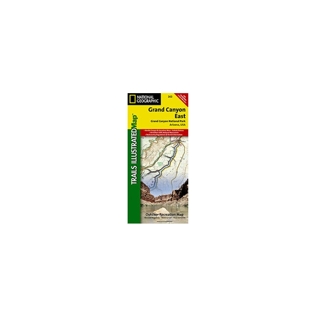National Geographic: Trails Illustrated - Trails Illustrated - Grand Canyon East Map - AZ - Map