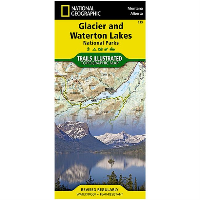 National Geographic: Trails Illustrated - Glacier and Waterton Lakes National Parks