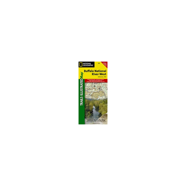 National Geographic: Trails Illustrated - 232 Buffalo National River West Map