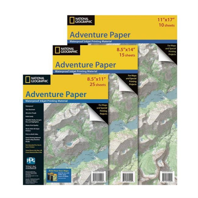 National Geographic: Trails Illustrated - Adventure Paper