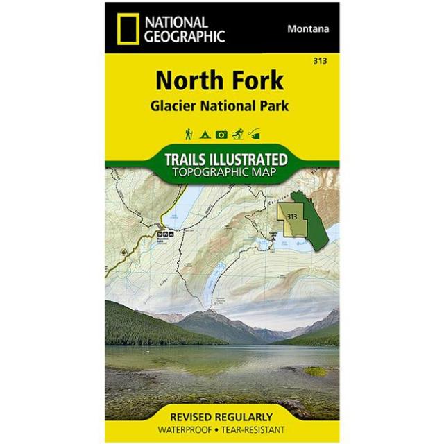 National Geographic: Trails Illustrated - Glacier National Park: North Fork