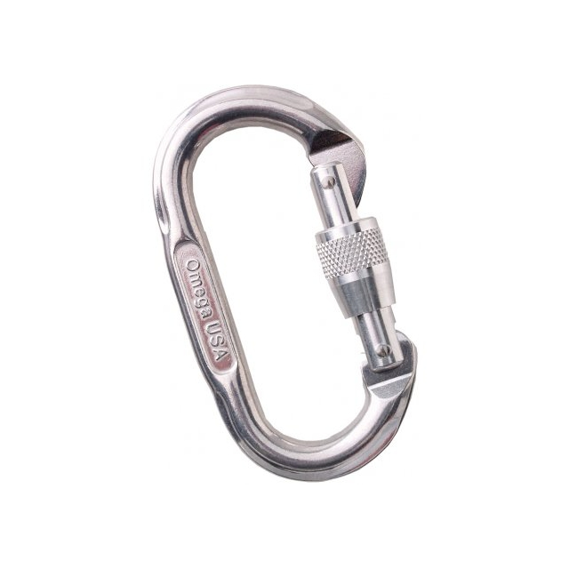 Omega Pacific - Oval Screw-Lok Carabiner - Bright