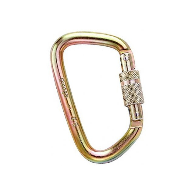 Omega Pacific - 7/16 Steel Modified D Screw-Lok Carabiner