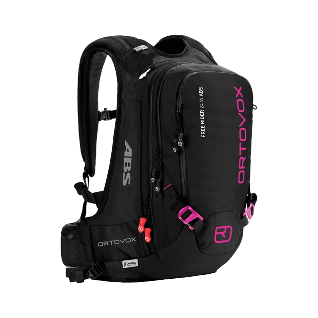 Ortovox - Free Rider 24 ABS Ready Backpack - Women's: Black/Anthracite/Pink