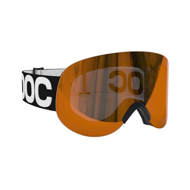 POC - Lid Goggles: Uranium Black Frame/Persimmon Red Mirror Lens