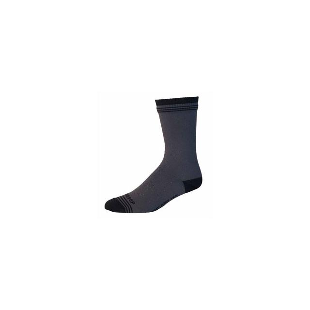 Showers Pass - Crosspoint Waterproof Wool Crew Sock - Grey/Black In Size